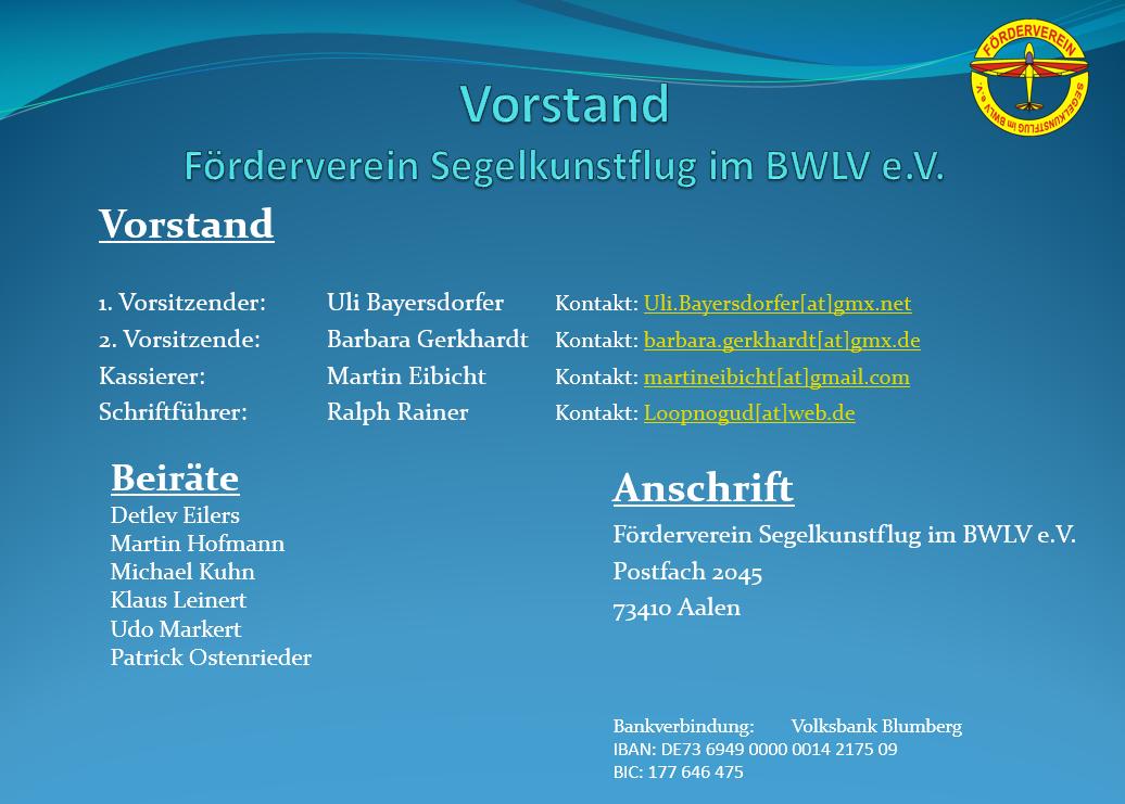 Feb-2019 Vorstand Förderverein Segelkunstflug im BWLV 2019-Aktuell